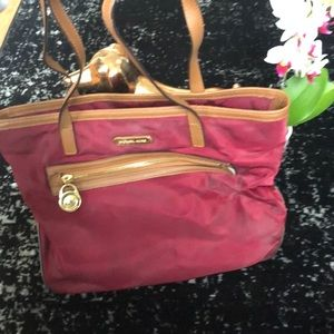 Well loved Michael Kors Burgundy Kempton NylonTote